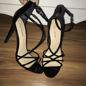 Shoes - Black Strapy Heels